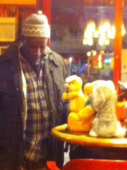 Toy man in Cafe, Nimes
