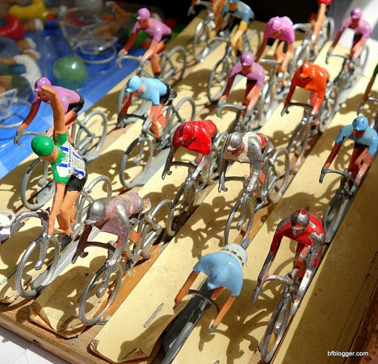 Tour de France toy cyclists from Uzes Brocante