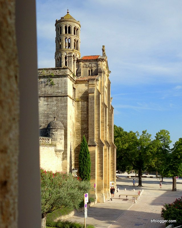 The Cathedral and 12th Century Tour Fenestrelle in Uzes