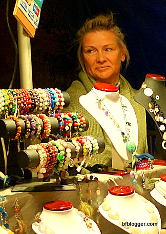 Jewelry vendors with handmade necklaces, bracelets and more