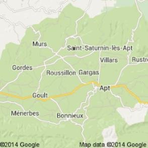 Map of Luberon Route