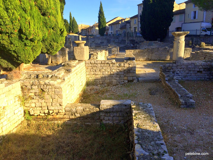 Ruins of Maison au Dauphin in Vaison-la-Romaine in Orange