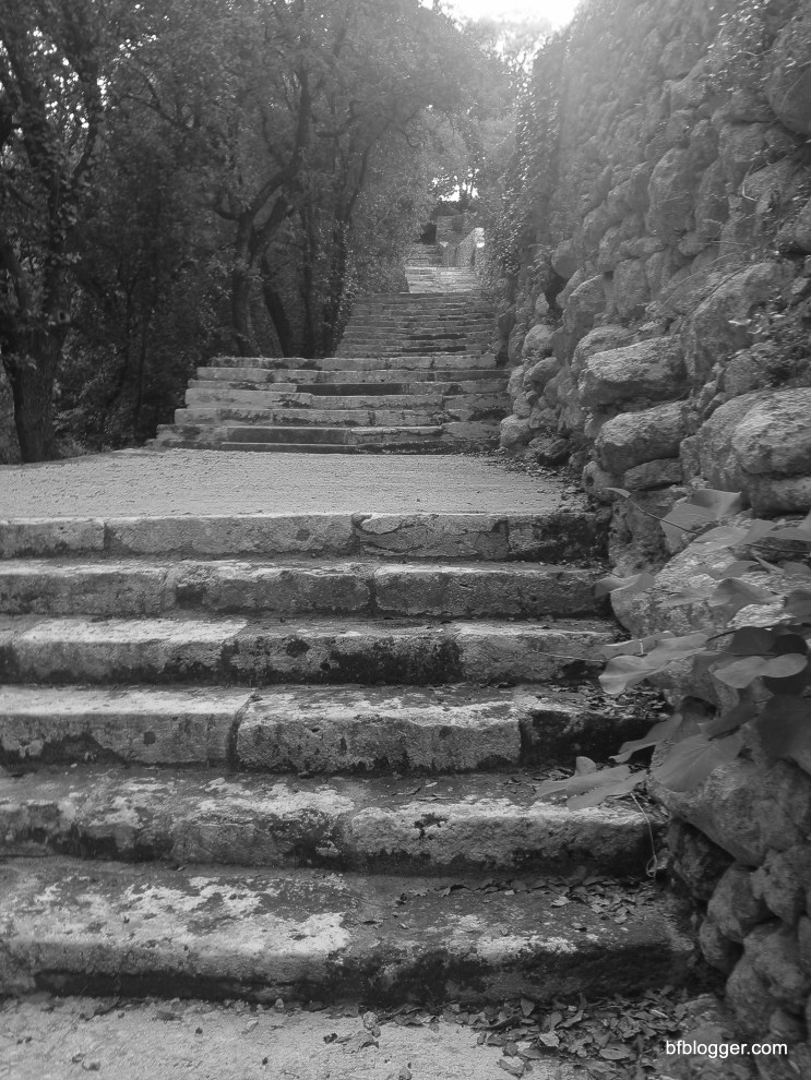 Steps to the Valle d L'Eure in Uzes
