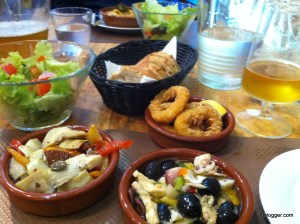 Appetizers in Turkey: Calamari and Mixed Seafoods