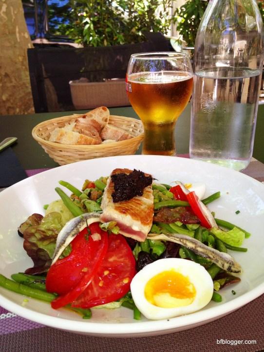 Salmon Salad, San Quentin La Poterie, France