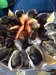 Shrimp, Oysters and Mussels in Sete, France