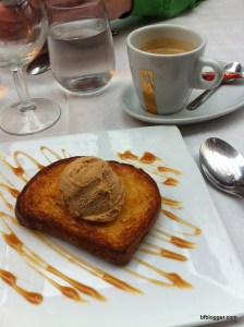 Brioche with Caramel Glace