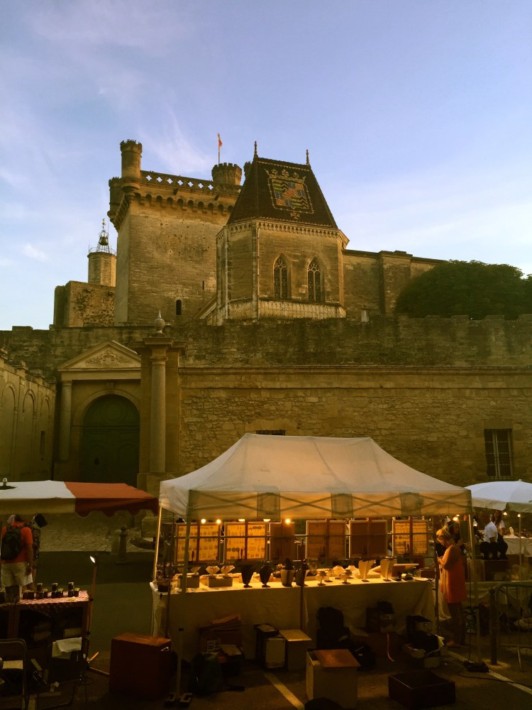 Duche in Uzes on Tuesday night