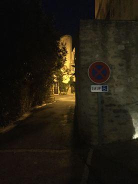 Night scene in Cavillargues