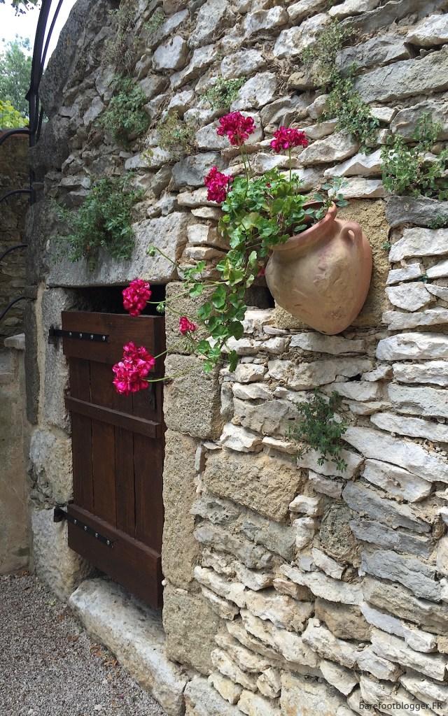 Original stonework at Mas d'Augustine