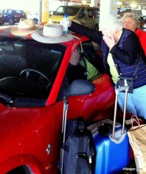 Mustang Sally left behind in Girona, Spain