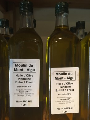 Olive oil fresh from the press