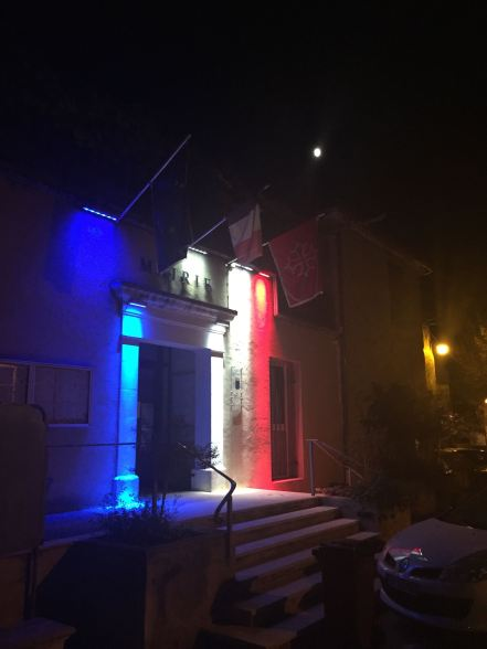 Cavillargues Mairie at night