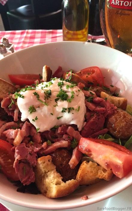 Le Chat Noir's Paysanne Salad - with gizzards!