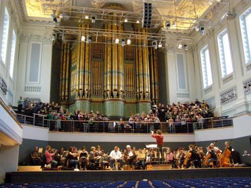 Elijah Rehearsal in Birmingham Town Hall