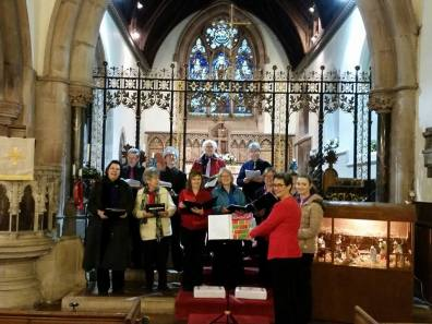 BFCS in Harmony rehearsing for a wedding at Hagley Church.