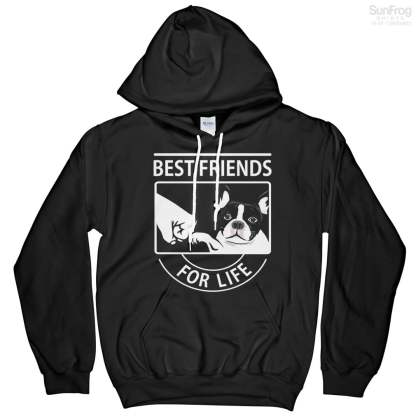 Pug Best Friends For Life Hoodie
