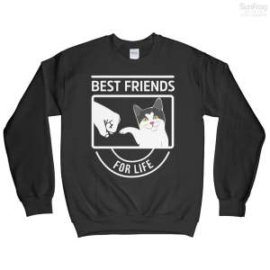 Best Friend Cat For T-Shirt Sweatshirt
