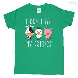 I Dont eat My Friends Ladies T-Shirt