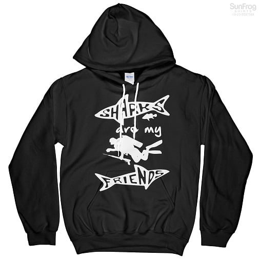 Sharks Are My Friends T-Shirt Hoodie