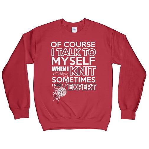 This women loves to knit t-shirt - knitting Sweatshirt