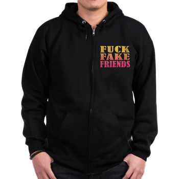 Fuck Fake Friends Ultra-Soft Zipper Hoodie