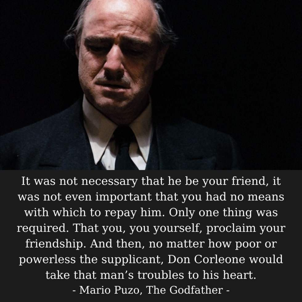 Godfather Captions About Friendship