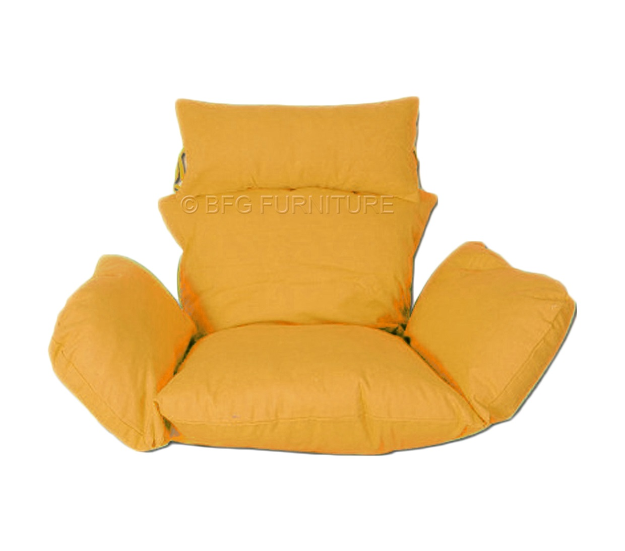 mustard yellow bean bag chair resistance exercise system reviews classic cushions outdoor furniture bfg