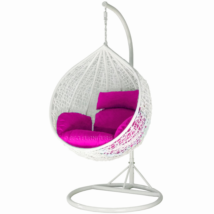 Swing Chair Classic White Frame  Outdoor Furniture