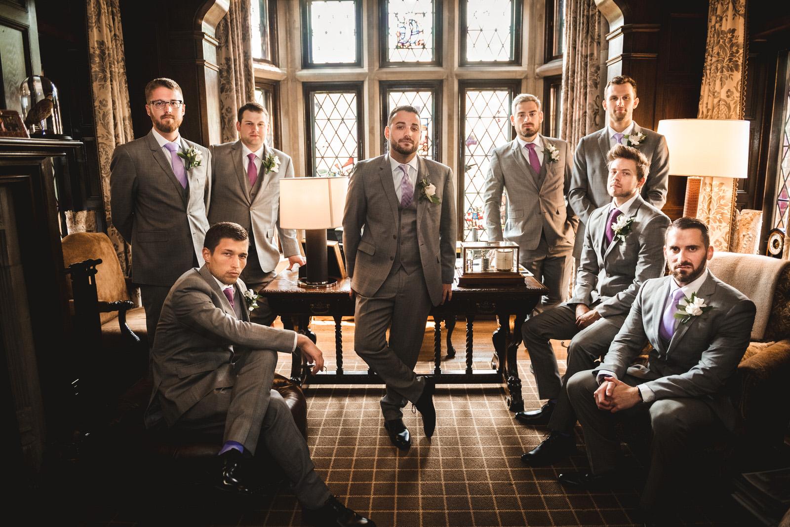 groomsmen at zenner house wedding