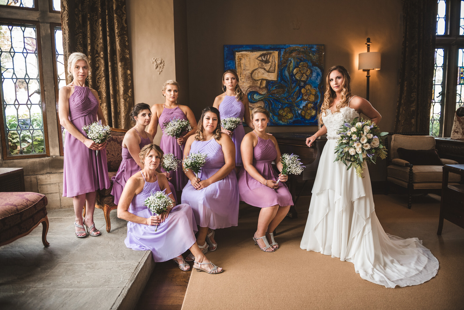 bridesmaids at Zenner House wedding