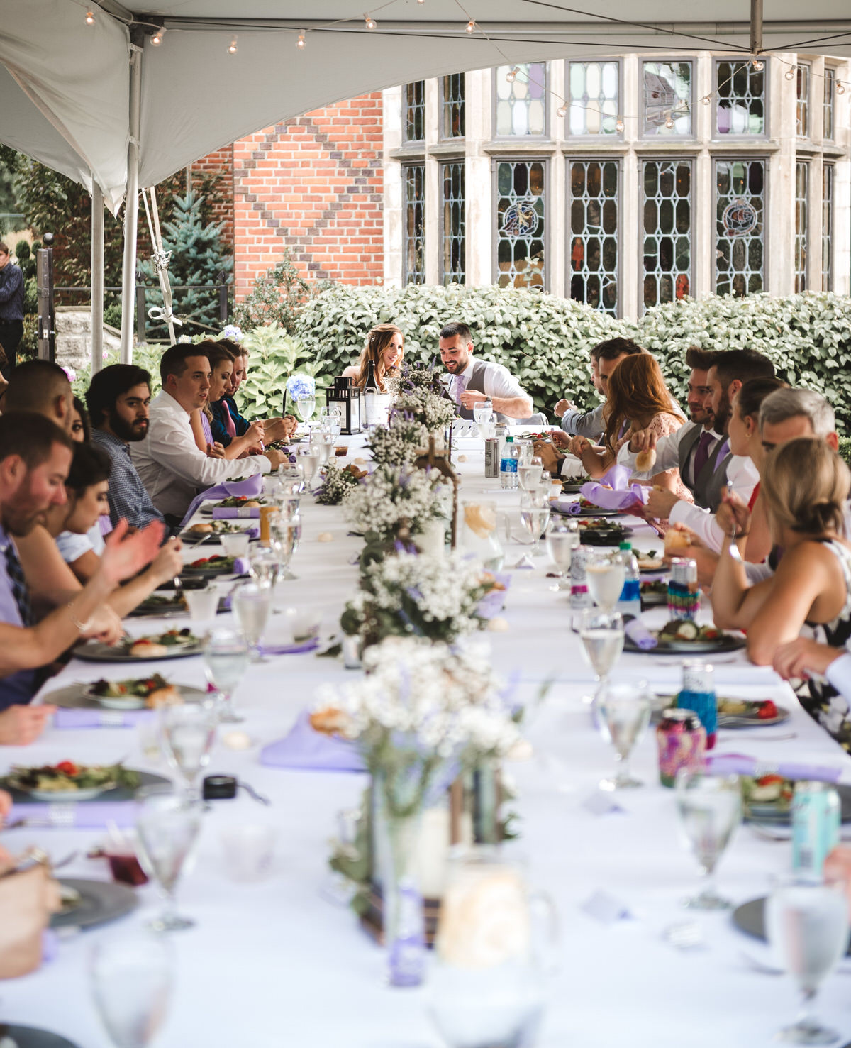 wedding reception dinner at Zenner House