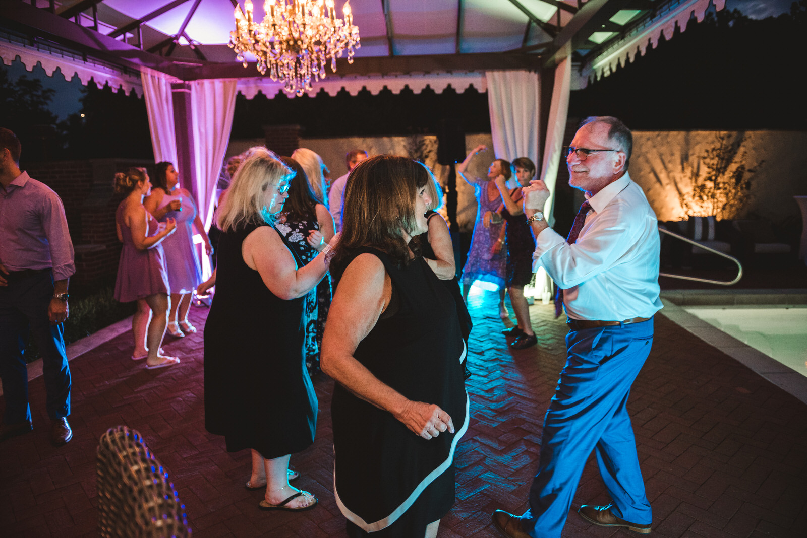 wedding reception dancing photography in Athens Ohio