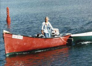 Anne Priest on the dory BETSY Nova Scotia
