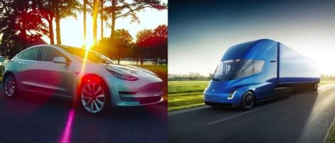 Tesla model 3 & tesla semi