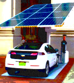 Electric car & carport