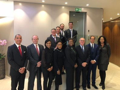 Bahamas Delegation and senior executives of Gonet Bank