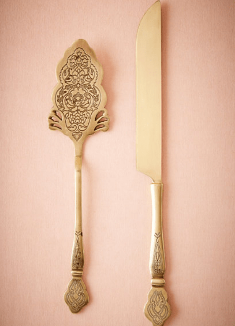 Filigreed Cake Serving Set The Wedding Shop