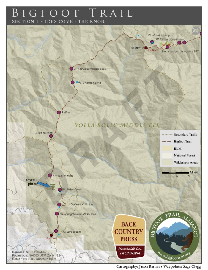 DRAFT Bigfoot Trail Map