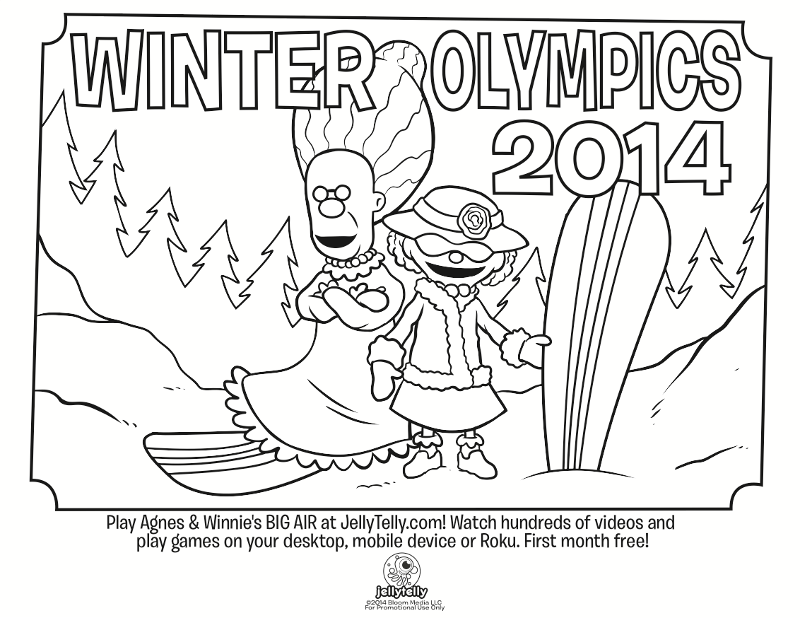 Winter Olympics Coloring Page