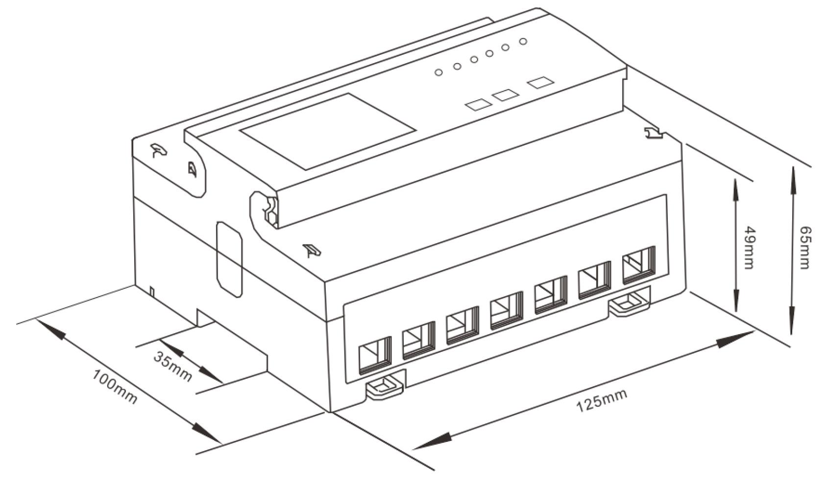 Portofrei Lcd Multifunktions Drehstromzahler S0 Rs485 10