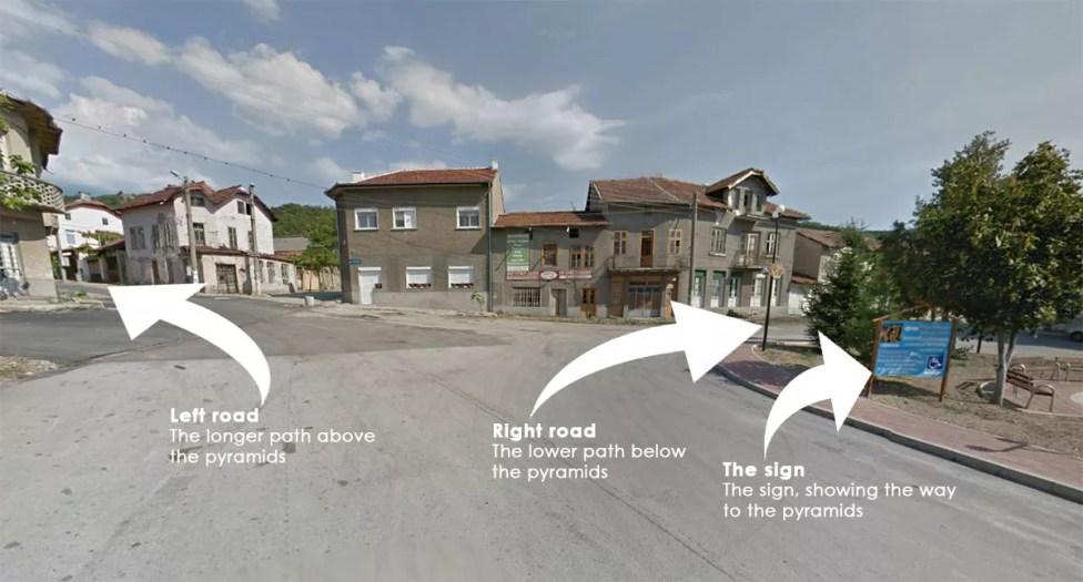 Центърът на село Стоб