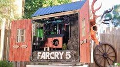 3 ) Far Cry 5: Los especialistas en personalizaciones IFR crearon esta carcasa como premio para un concurso promocional de Far Cry 5,un trabajo inspirado en los graneros que podemos ver en el condado de Hope durante nuestra aventura.