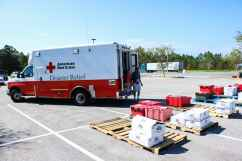 CAMBROs are packed and ready to be loaded onto a Red Cross ERV.