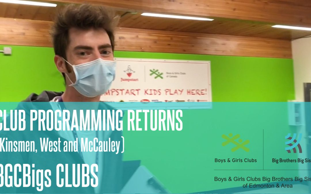 Some Club Programming Returns! (McCauley, Kinsmen and West)