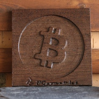 Bitcoin board wood