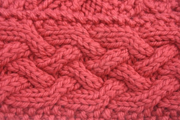 Pink knitted wool texture background image