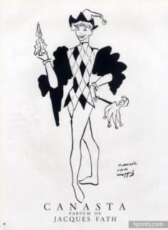 Canasta, Les Parfums de Jacques Fath, Maurice van Moppés, 1951