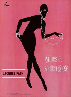 René Gruau for Jacques Fath, 1956