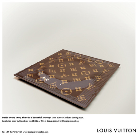 Locura por los preservativos de Louis Vuitton